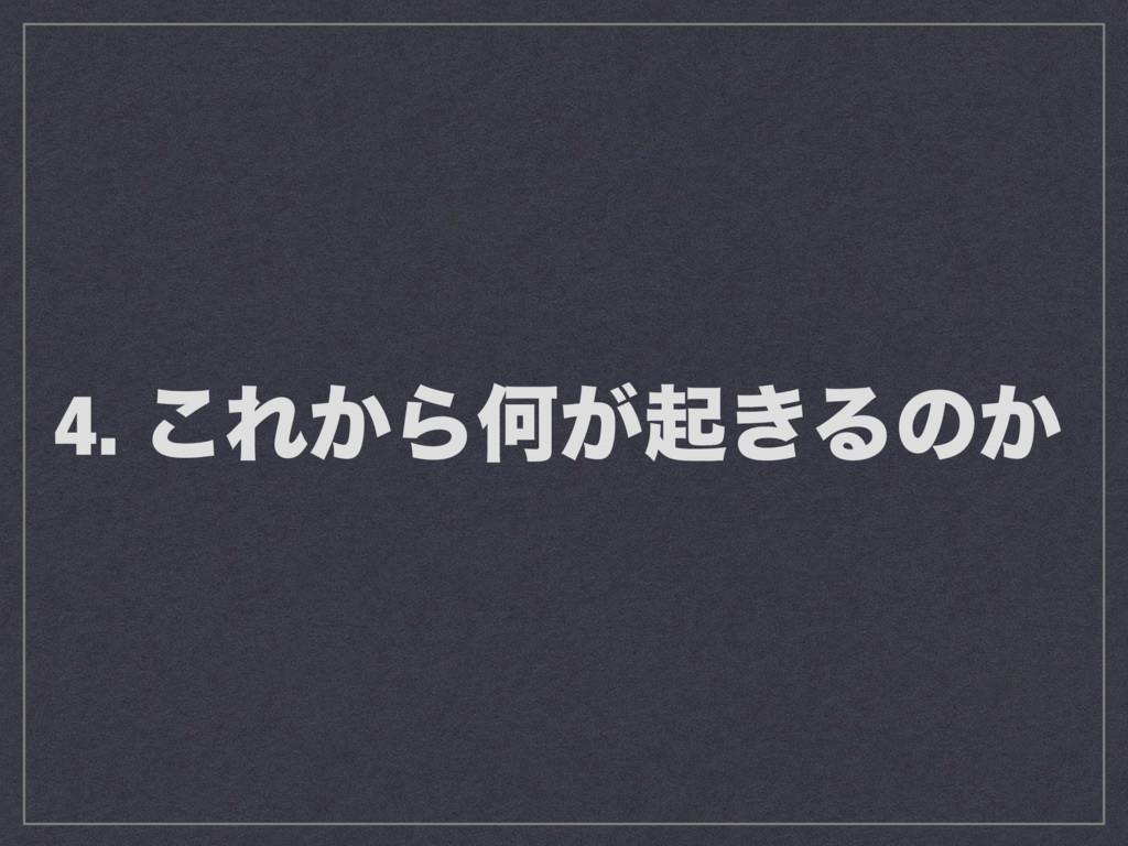 4. ͜Ε͔ΒԿ͕ى͖Δͷ͔