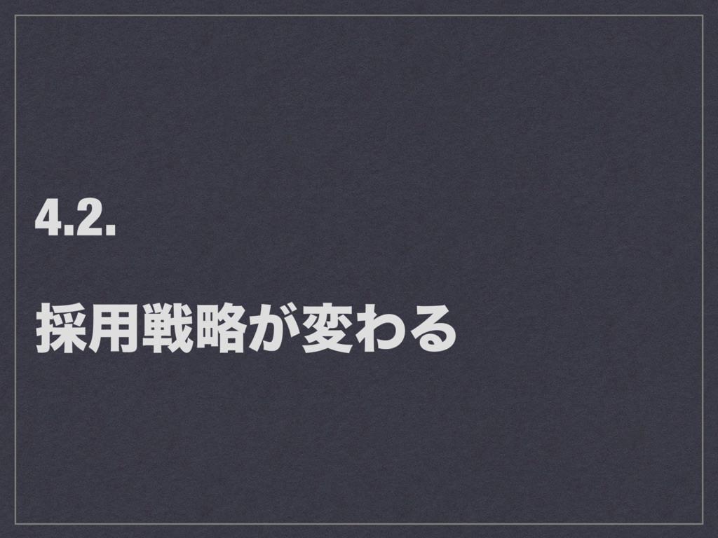 4.2. ࠾༻ઓུ͕มΘΔ