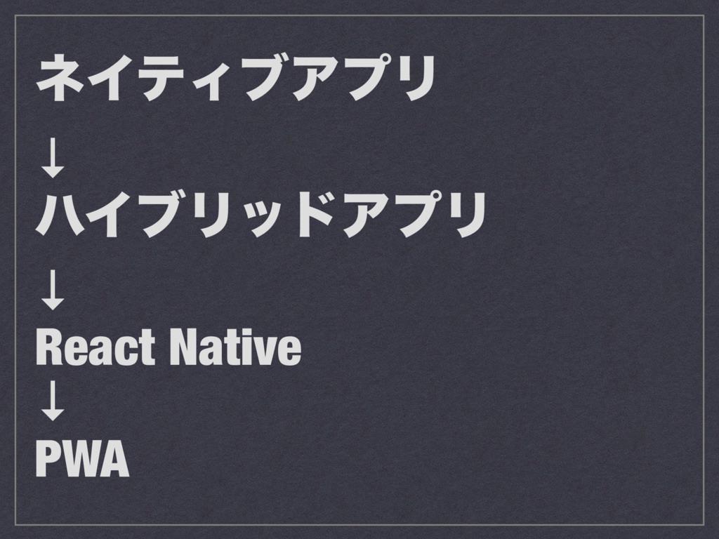 ωΠςΟϒΞϓϦ ↓ ϋΠϒϦουΞϓϦ ↓ React Native ↓ PWA
