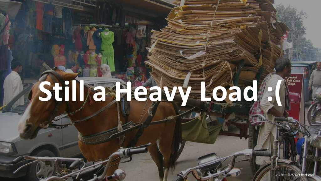 Still a Heavy Load :( 14 / 75 — © AKAMAI-EDGE 2...