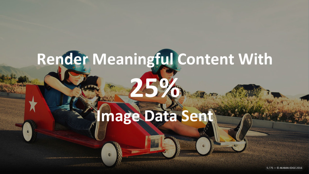 Render Meaningful Content With 25% Image Data S...