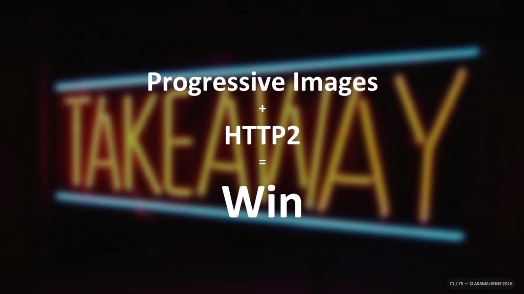 Progressive Images + HTTP2 = Win 71 / 75 — © AK...