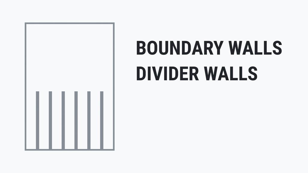 BOUNDARY WALLS DIVIDER WALLS