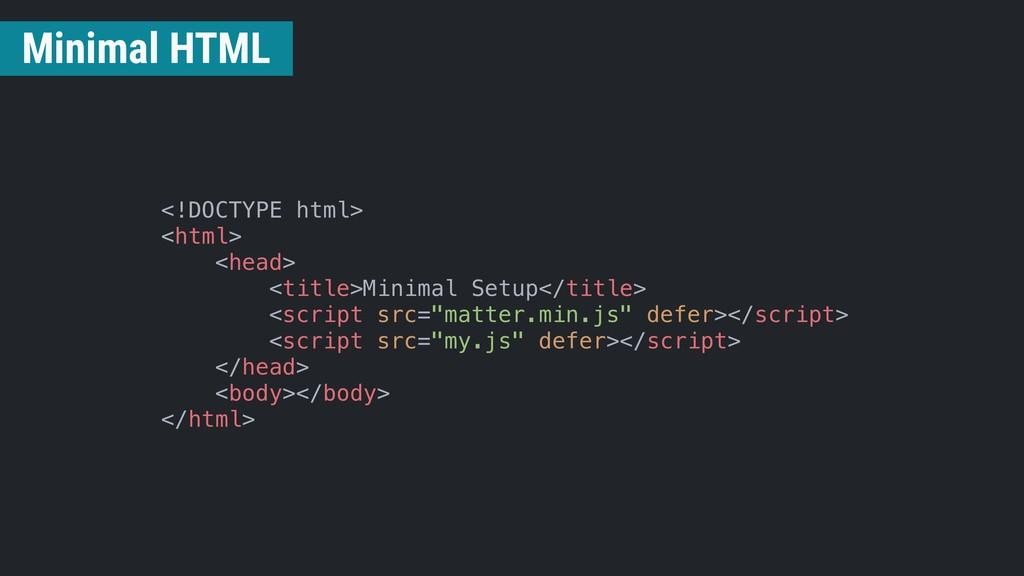 <!DOCTYPE html> <html> <head> <title>Minimal Se...