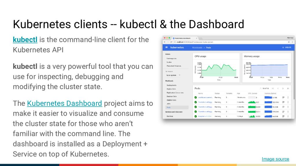 Kubernetes clients -- kubectl & the Dashboard k...