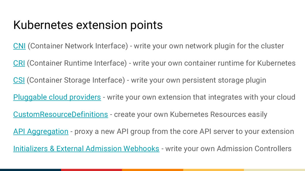 Kubernetes extension points CNI (Container Netw...
