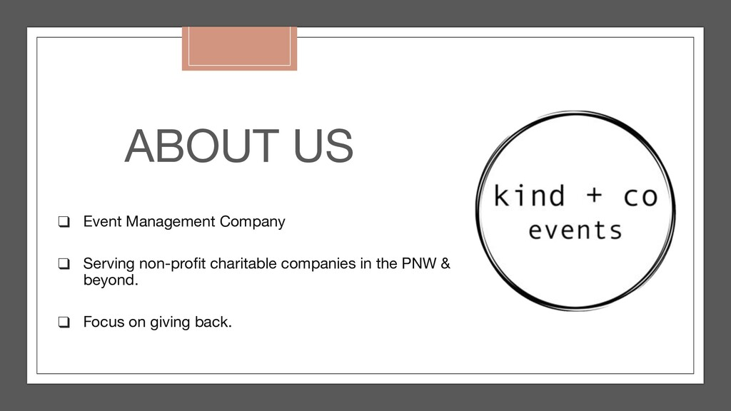 ABOUT US ❑ Event Management Company ❑ Serving n...