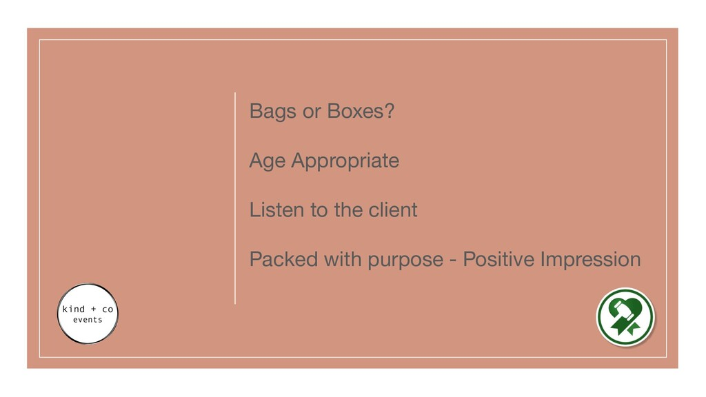 Bags or Boxes? Age Appropriate Listen to the cl...
