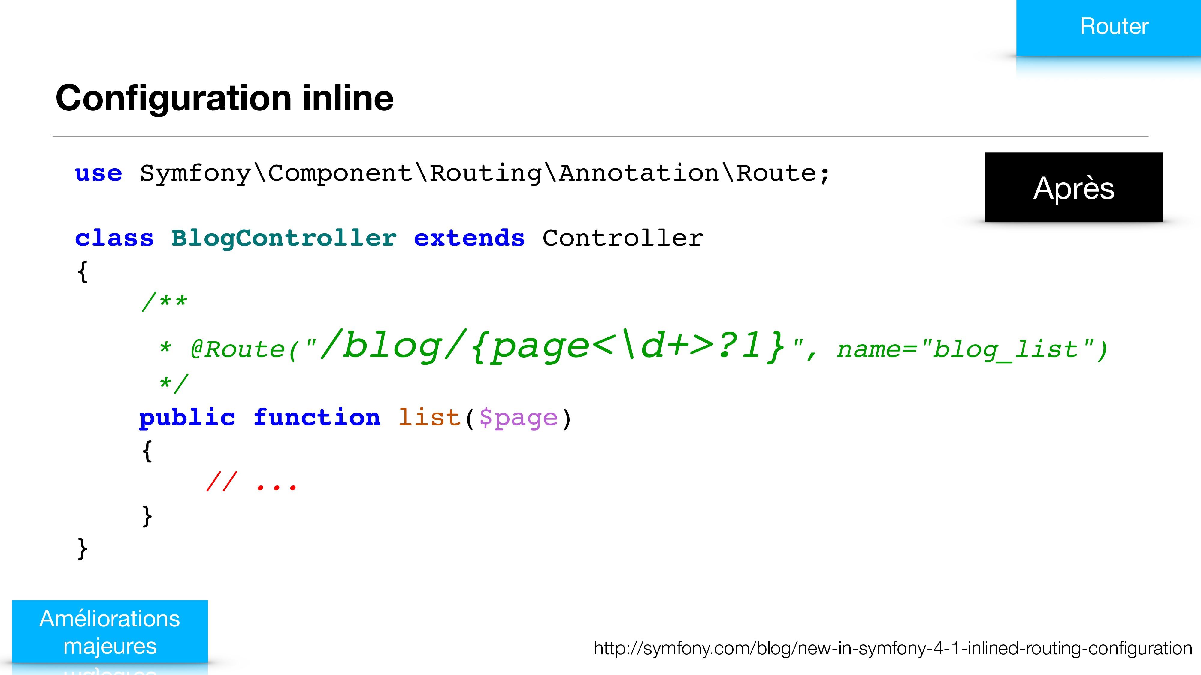 Configuration inline Améliorations majeures http...