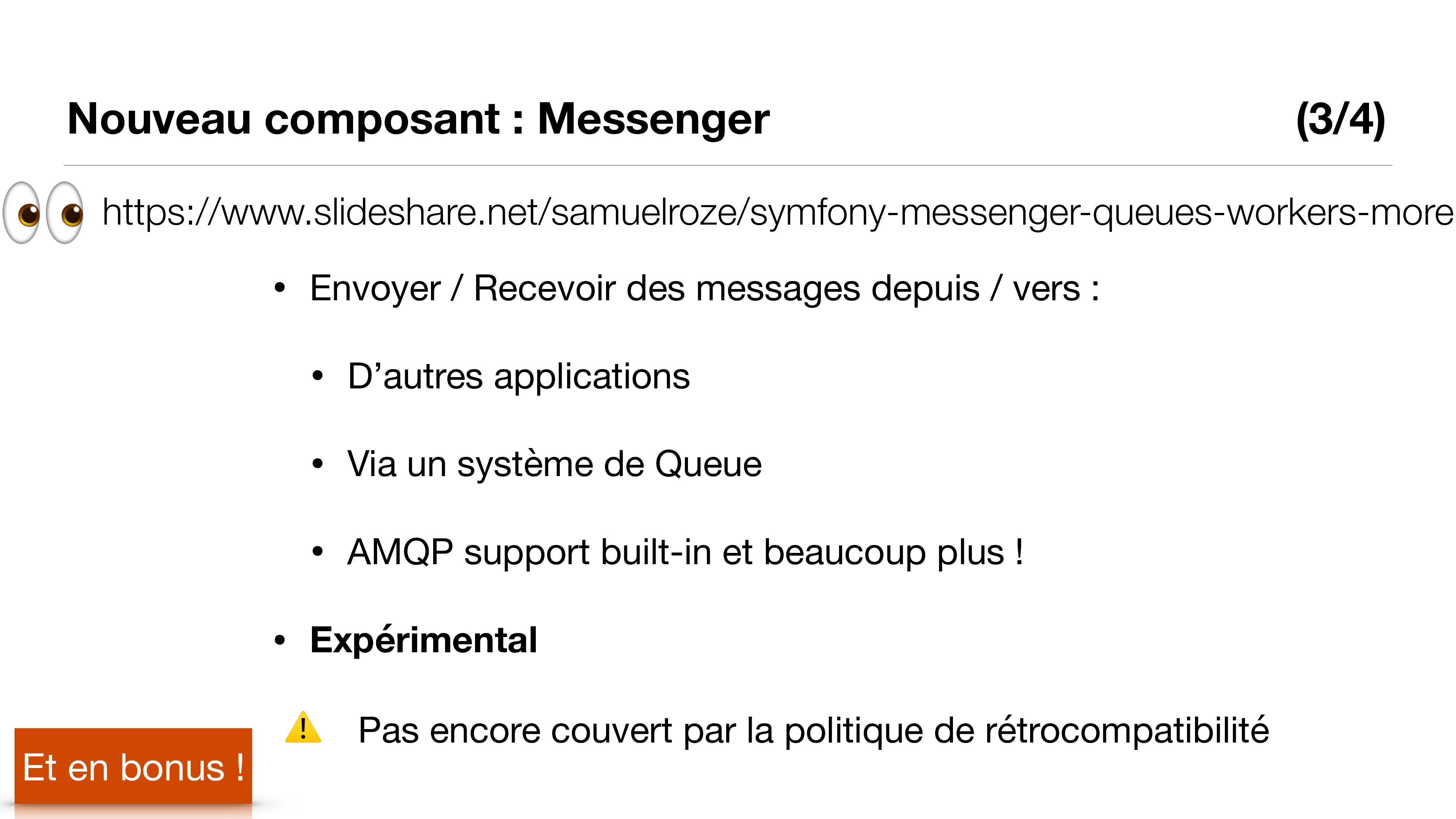 Nouveau composant : Messenger (3/4) Et en bonus...