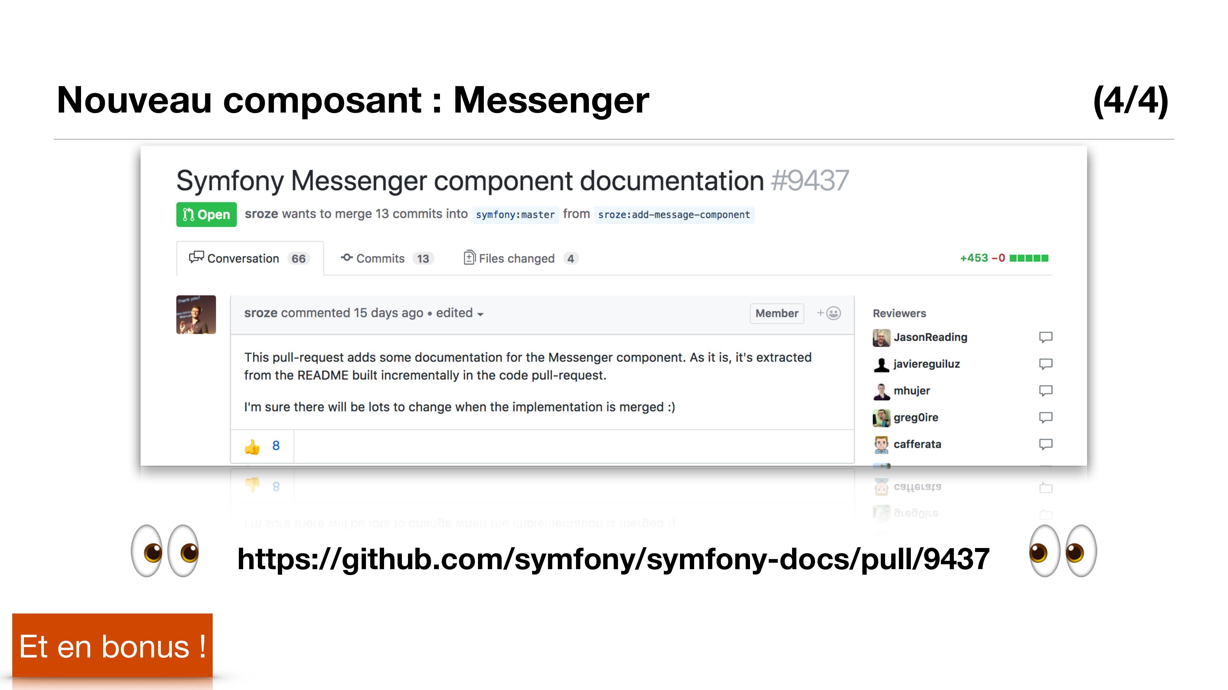 Nouveau composant : Messenger (4/4) Et en bonus...