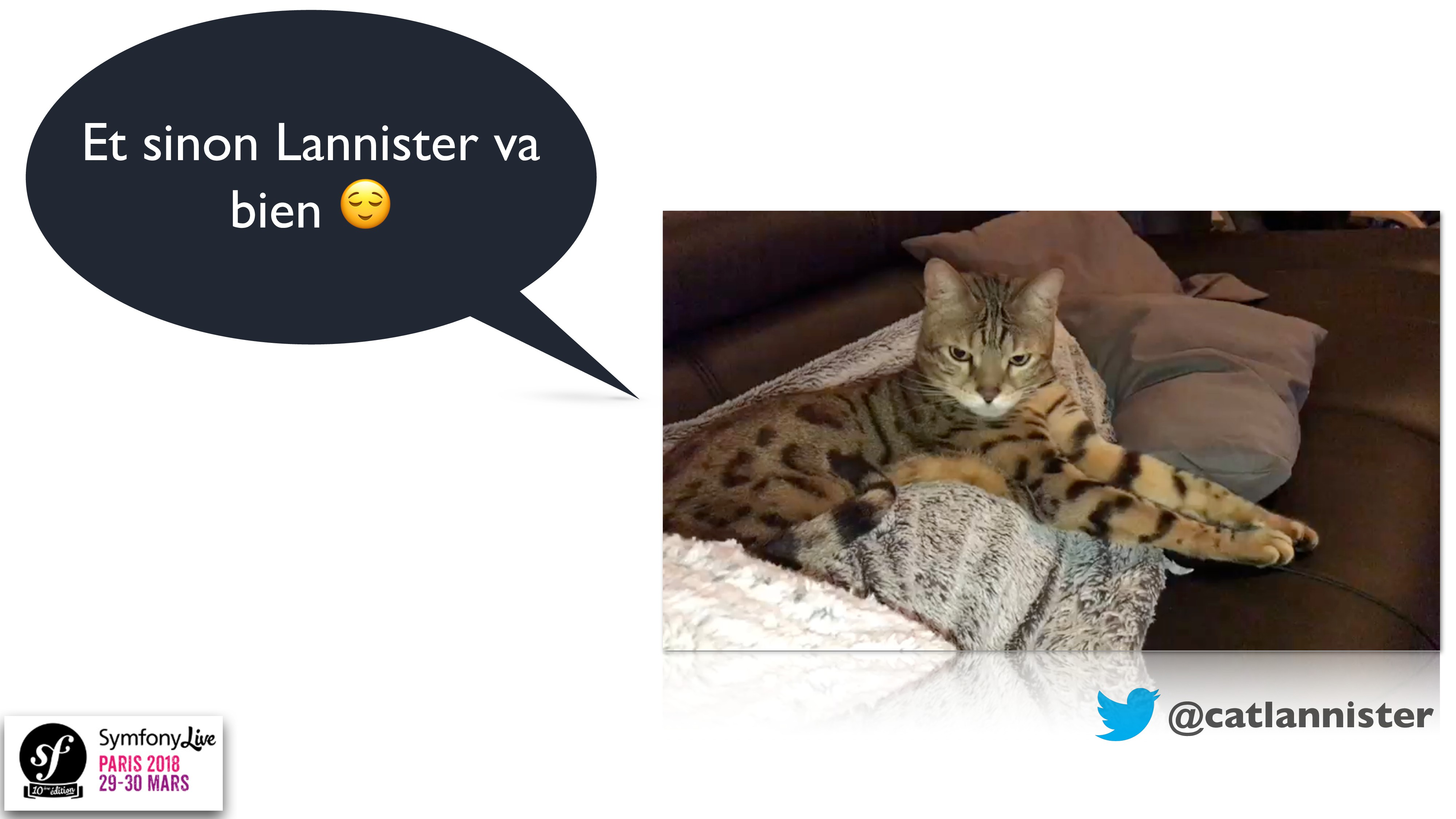 @catlannister Et sinon Lannister va bien