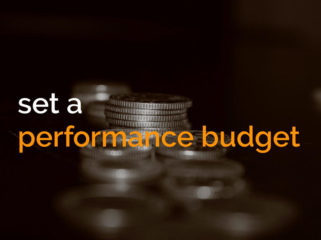 set a performance budget