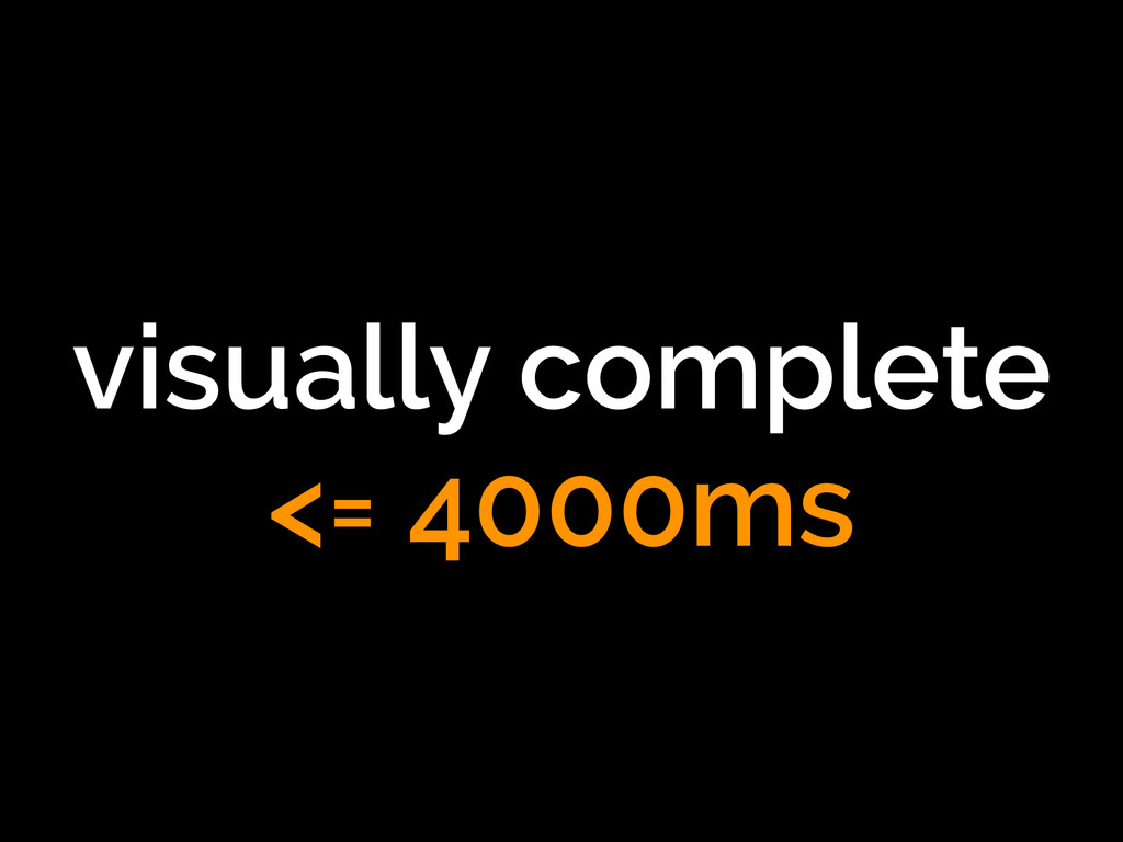 visually complete <= 4000ms