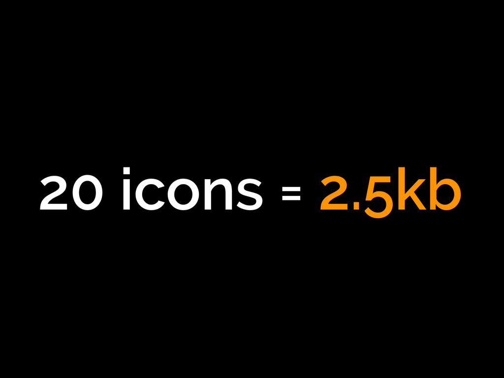 20 icons = 2.5kb
