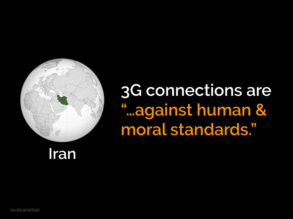 "Iran 3G connections are ""…against human & moral..."