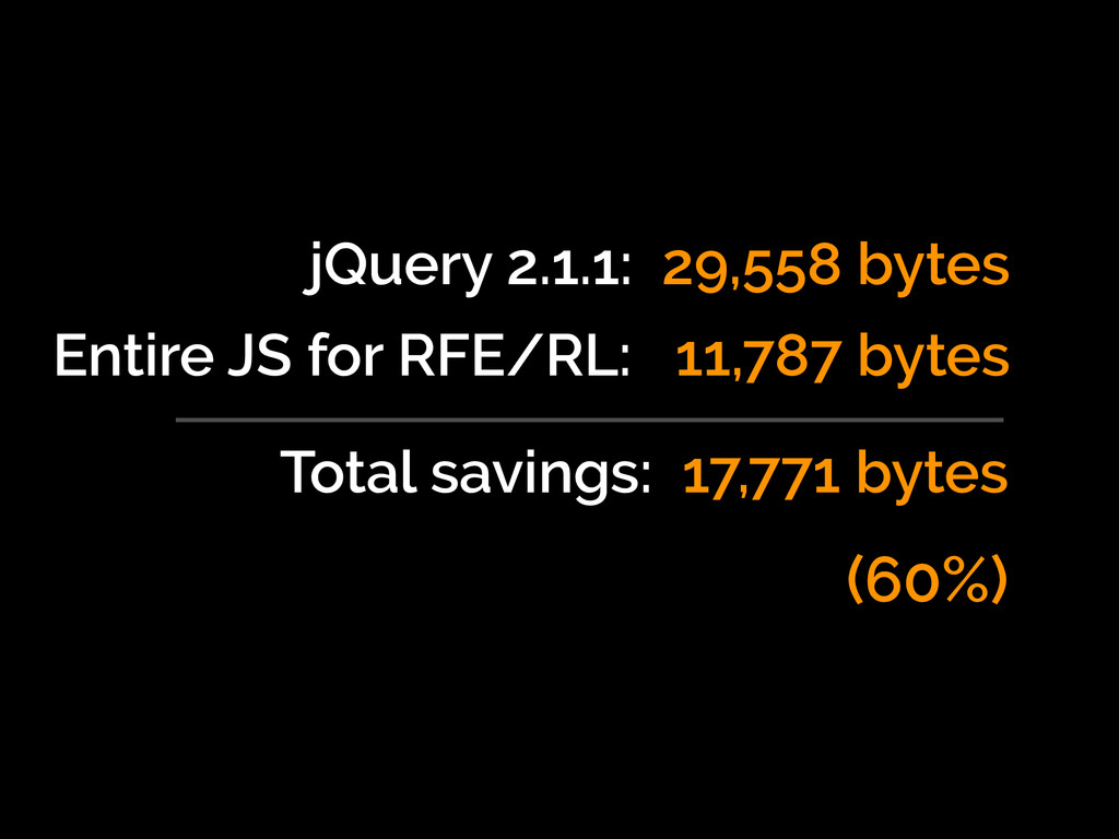 jQuery 2.1.1: 29,558 bytes Entire JS for RFE/RL...