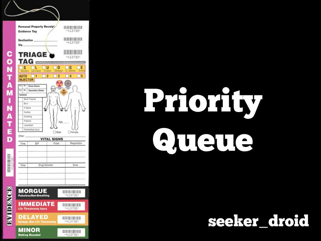 Priority Queue seeker_droid