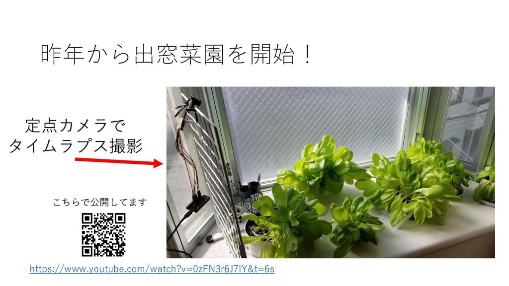 昨年から出窓菜園を開始! 定点カメラで タイムラプス撮影 https://www.youtub...