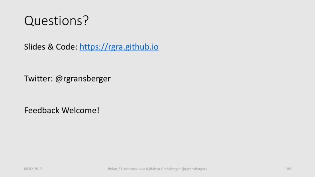Questions? Slides & Code: https://rgra.github.i...