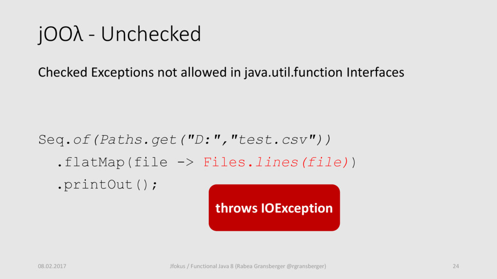 jOOλ - Unchecked Checked Exceptions not allowed...