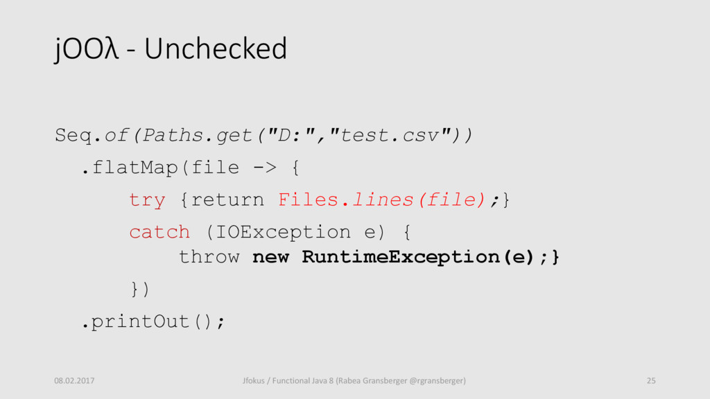 "jOOλ - Unchecked Seq.of(Paths.get(""D:"",""test.cs..."