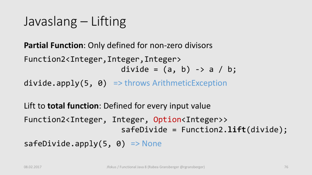 Javaslang – Lifting Partial Function: Only defi...