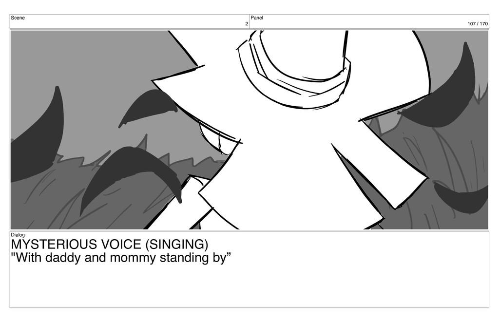 Scene 2 Panel 107 / 170 Dialog MYSTERIOUS VOICE...
