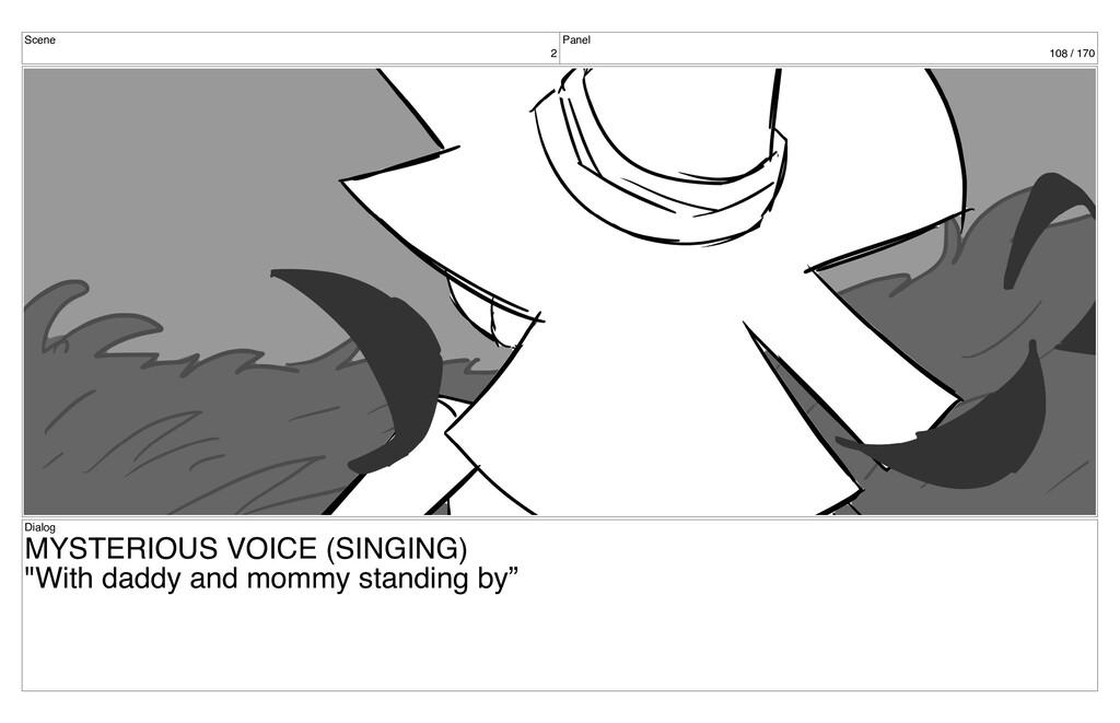 Scene 2 Panel 108 / 170 Dialog MYSTERIOUS VOICE...