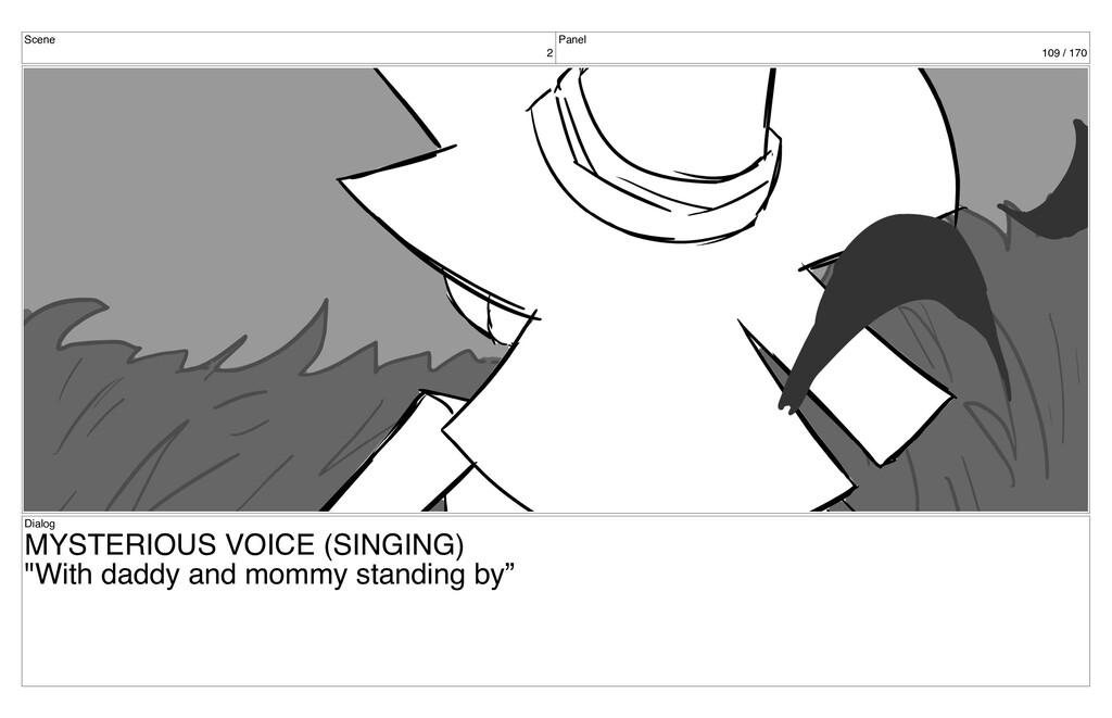 Scene 2 Panel 109 / 170 Dialog MYSTERIOUS VOICE...