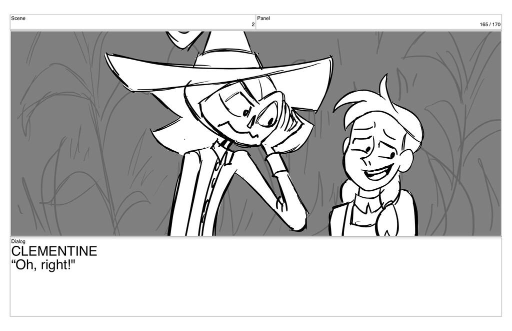 "Scene 2 Panel 165 / 170 Dialog CLEMENTINE ""Oh, ..."