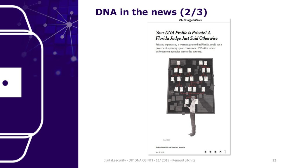DNA in the news (2/3) 12 digital.security - DIY...