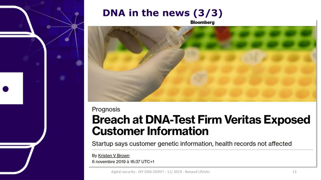 DNA in the news (3/3) 13 digital.security - DIY...