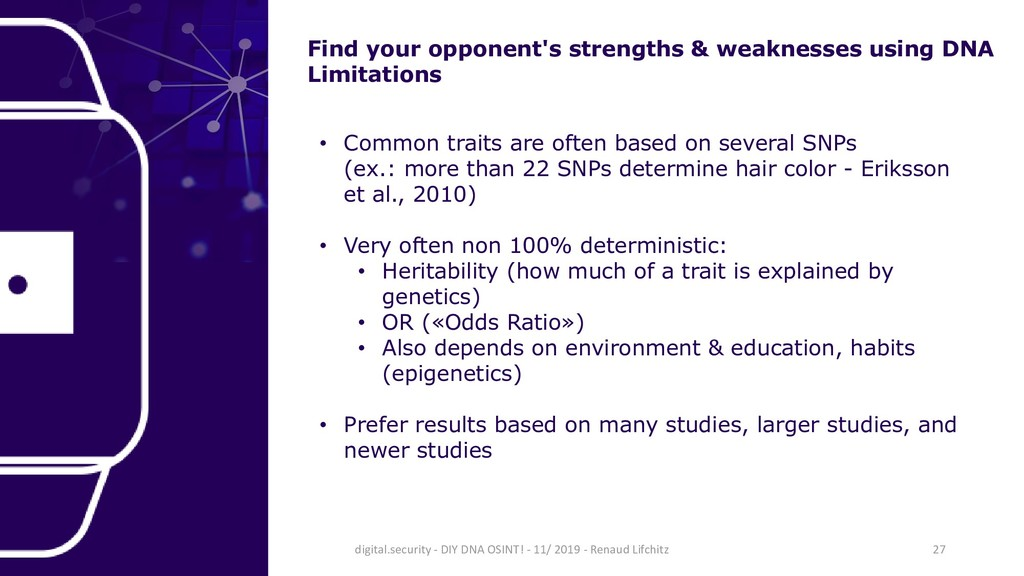 Find your opponent's strengths & weaknesses usi...