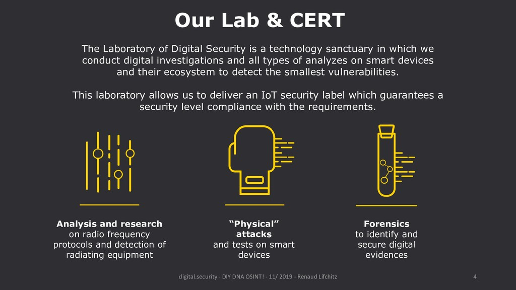 The Laboratory of Digital Security is a technol...