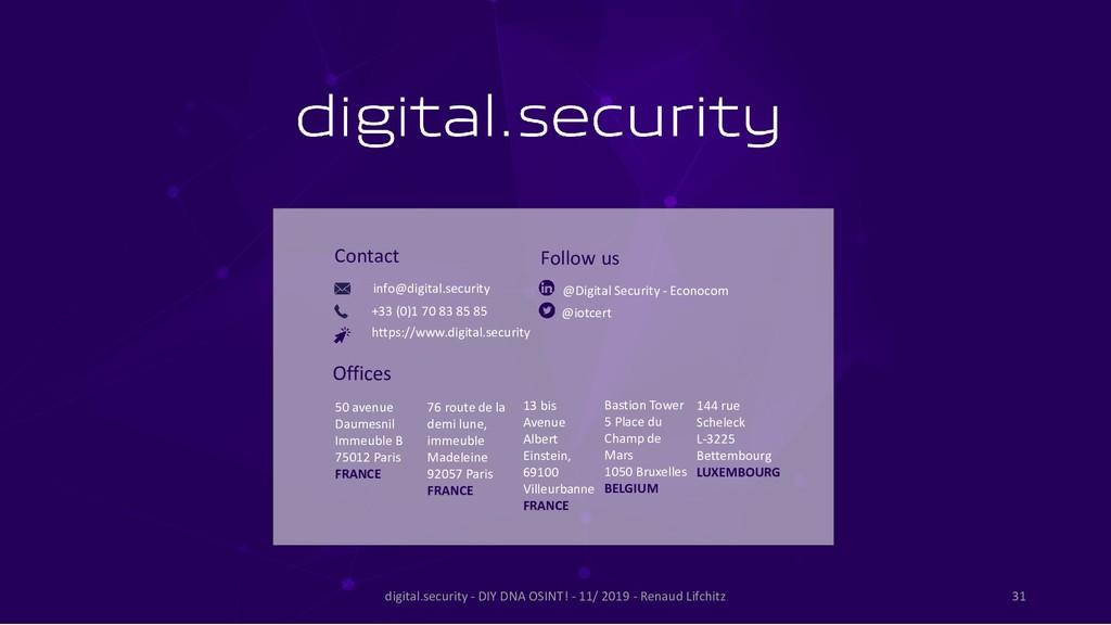MERCI info@digital.security +33 (0)1 70 83 85 8...