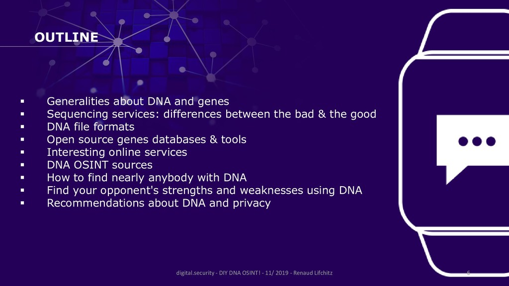 OUTLINE ▪ Generalities about DNA and genes ▪ Se...