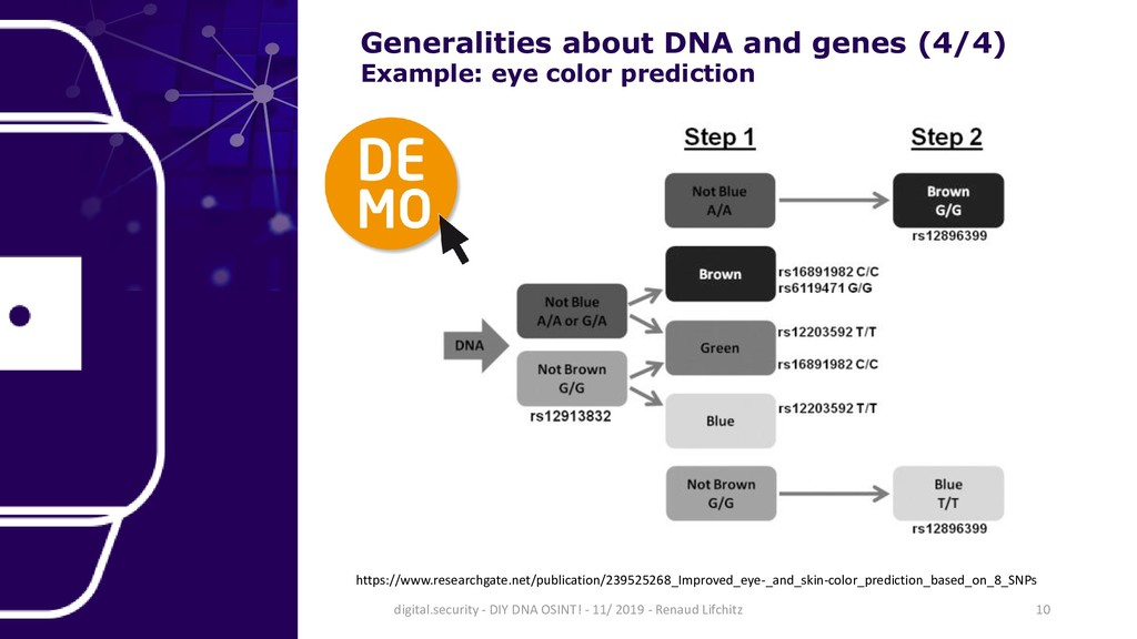 Generalities about DNA and genes (4/4) Example:...