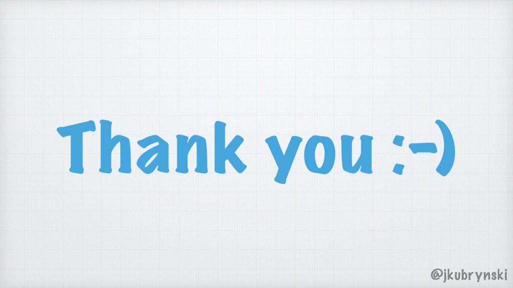 Thank you :-) @jkubrynski