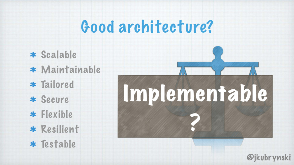 Good architecture? Scalable Maintainable Tailor...