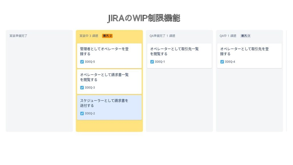 JIRAのWIP制限機能