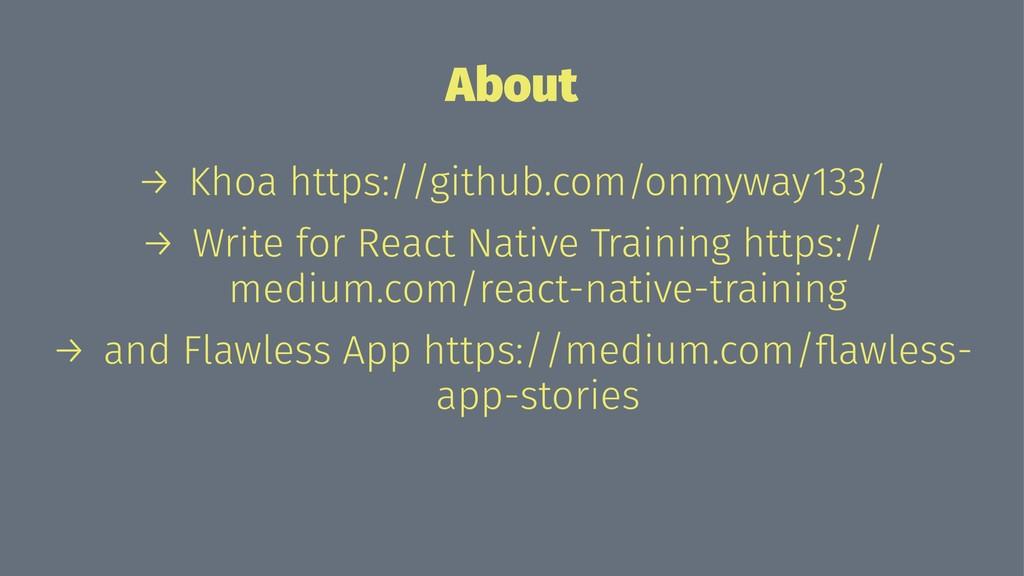 About → Khoa https://github.com/onmyway133/ → W...