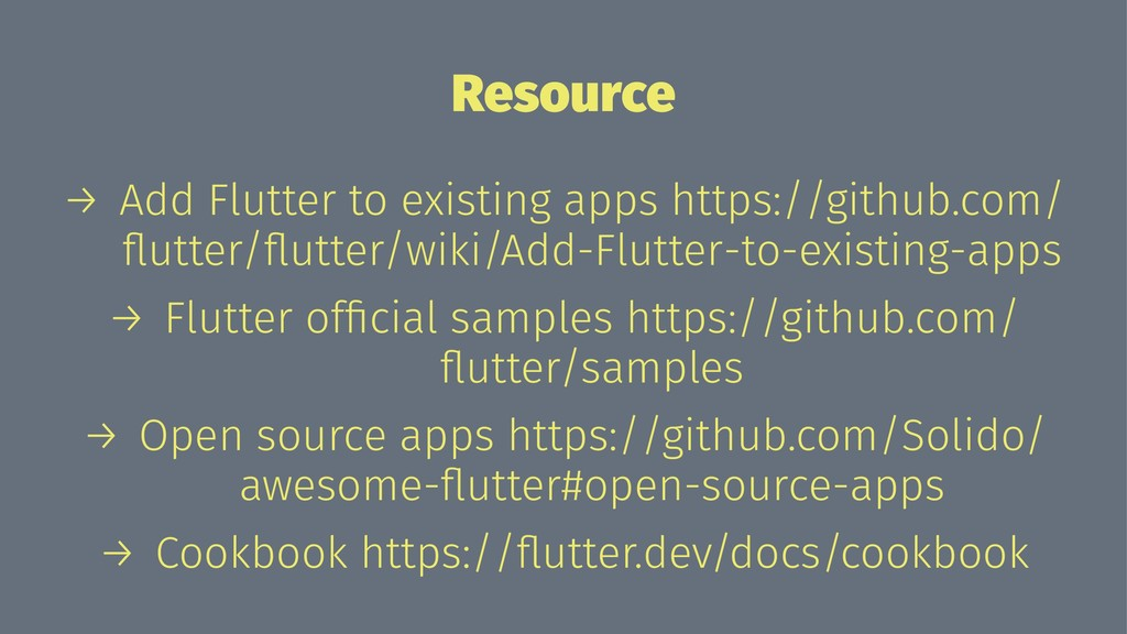 Resource → Add Flutter to existing apps https:/...