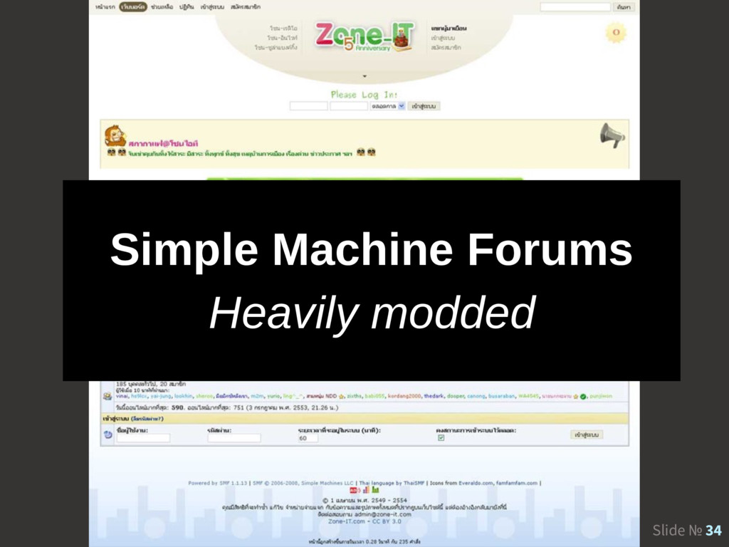 Slide № 34 Simple Machine Forums Heavily modded