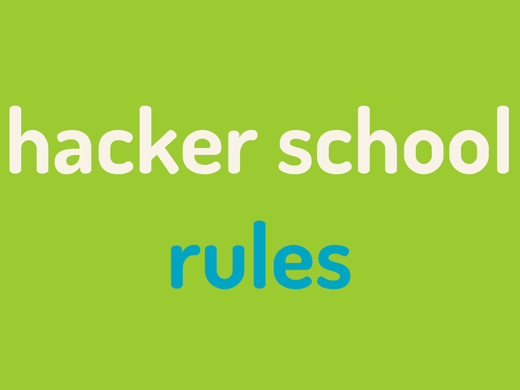 hacker school rules