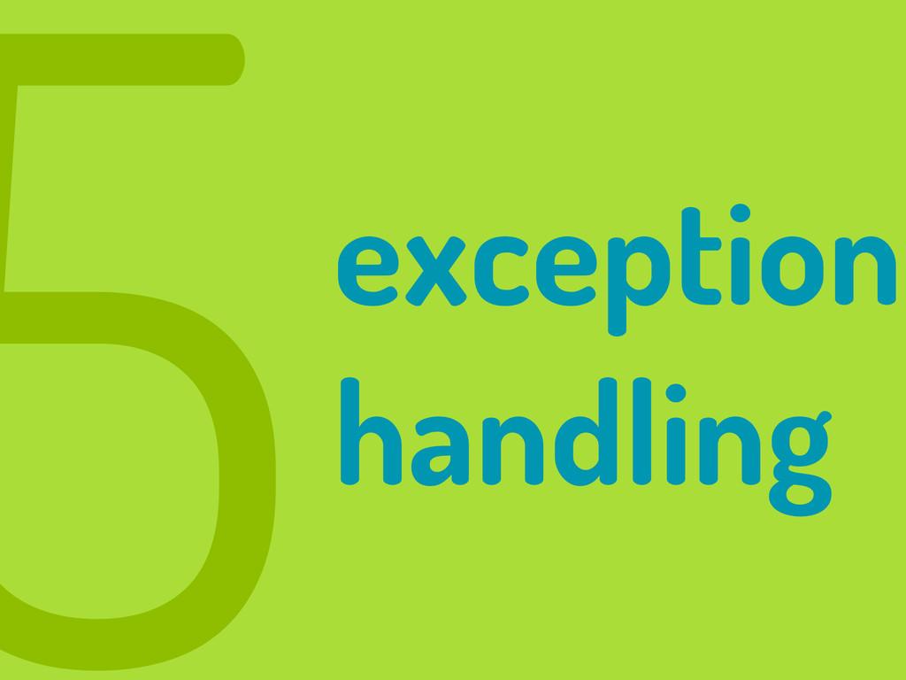 5exception handling