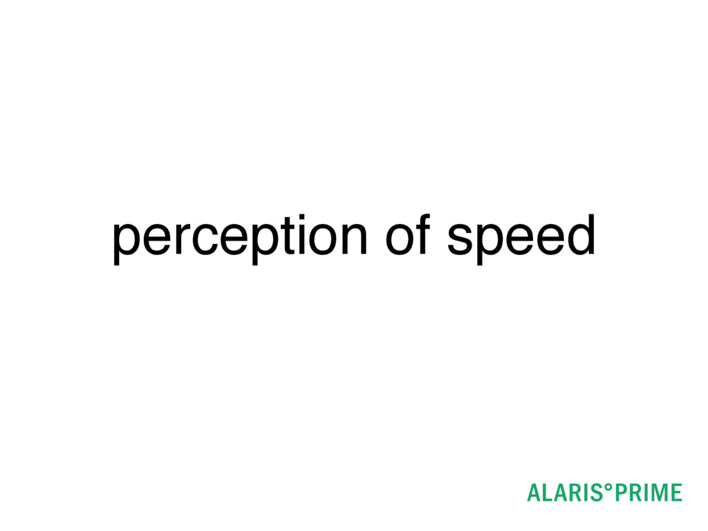 perception of speed