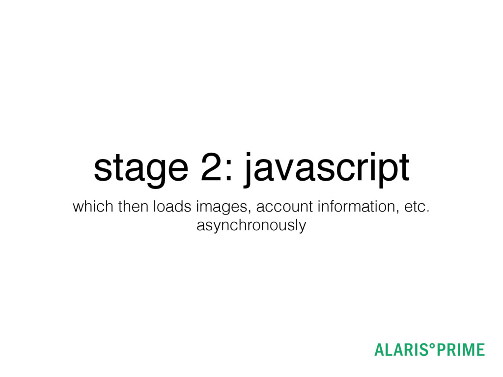 stage 2: javascript which then loads images, ac...