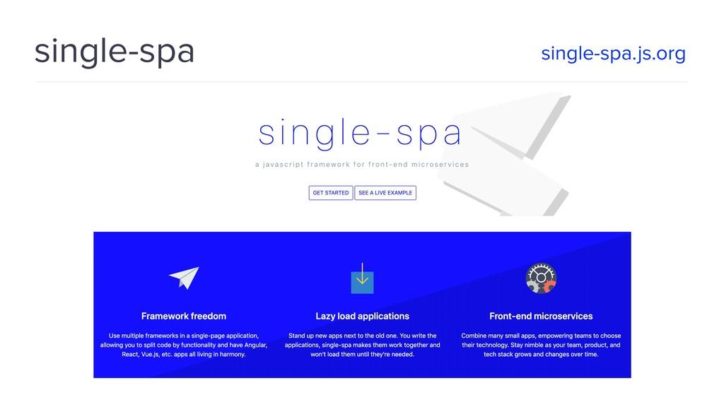 single-spa single-spa.js.org
