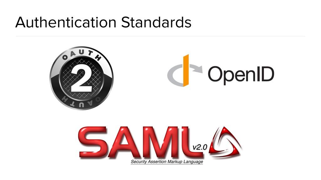 Authentication Standards